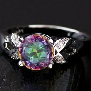 Jewelry - 925 Sterling Multicolor CZ Ring